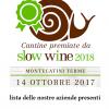 Slowine 2018 – Montecatini Terme il 14 ottobre – Le nostre aziende presenti